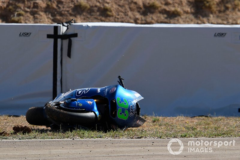 Accidente de Enea Bastianini, Italtrans Racing Team