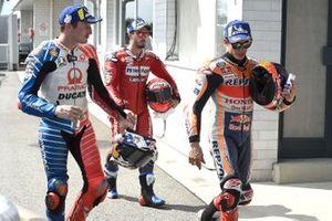 Marc Marquez, Repsol Honda Team, Jack Miller, Pramac Racing, Andrea Dovizioso, Ducati Team