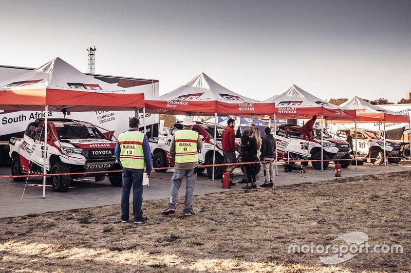Atmosfera nella zona della Toyota Racing
