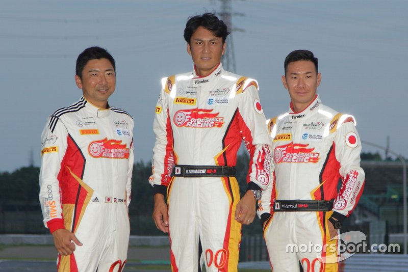 片岡龍也、谷口信輝、小林可夢偉(#00 Mercedes-AMG Team GOODSMILE)
