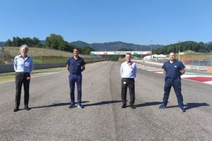 Paolo Poli, Mugello Circuit CEO, Micheal Masi, FIA Formula 1 Race Director and Safety Delegate, Antonio Canu, Mugello Circuit Race Director, Christian Bryll, FIA Formula 1 Event Logistics Manager and Permanent Starter