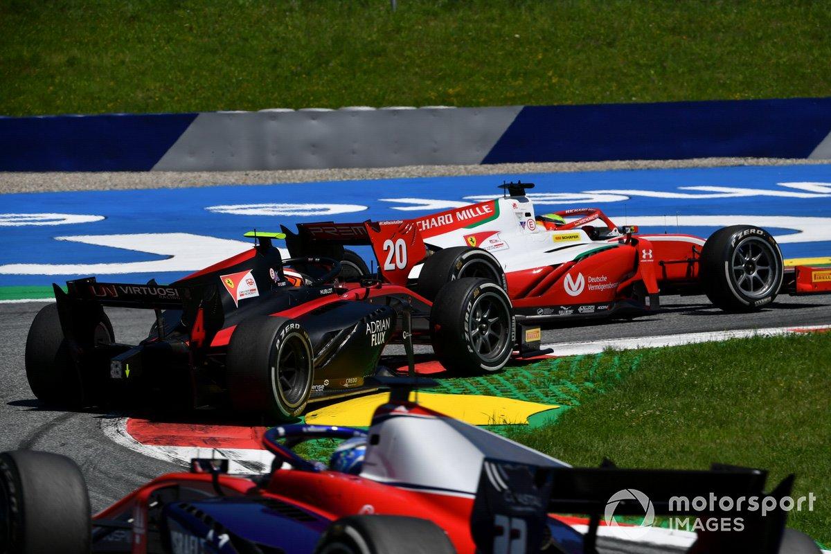 Mick Schumacher, Prema Racing, y Callum Ilott, UNI-Virtuosi