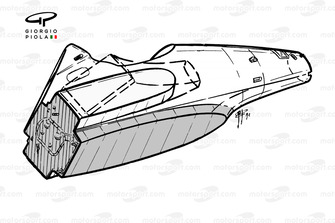 Шасси Ferrari F92A, вид снизу
