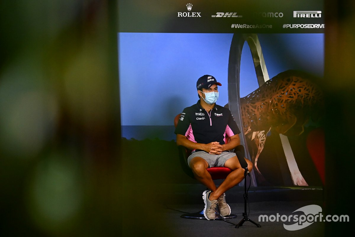 Sergio Perez, Racing Point in the press conference