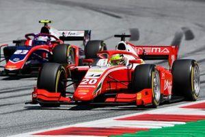 Mick Schumacher, Prema Racing, leads Marino Sato, Trident