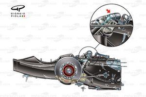Brawn BGP 001 2009 gearbox suspension