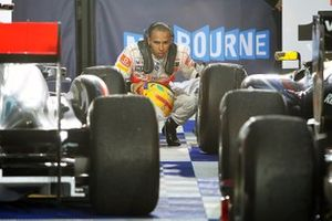 Lewis Hamilton, McLaren takes a look at the cars in parc ferme