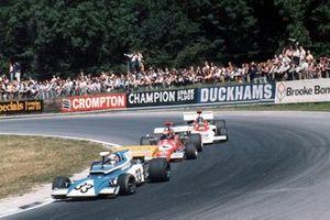 Rolf Stommelen, Eifelland 21 Ford, Niki Lauda, March 721G Ford y Dave Charlton, Lotus 72D Ford