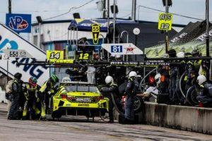 #14 AIM Vasser Sullivan Lexus RC-F GT3, GTD: Aaron Telitz, Jack Hawksworth, pit stop