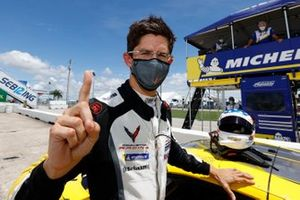 Motul Pole Award winner #3 Corvette Racing Corvette C8.R, GTLM: Jordan Taylor