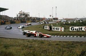 Jacky Ickx, Ferrari 312B2, Pedro Rodriguez, BRM P160, Jackie Stewart, Tyrrell 003 Ford, Chris Amon, Matra MS120B