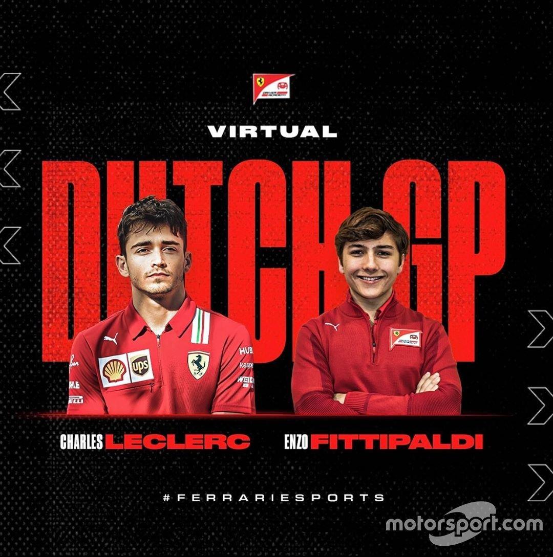 Enzo Fittipaldi e Charles Leclerc