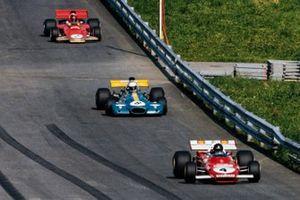 Jacky Ickx, Ferrari 312B2, Tim Schenken, Brabham BT33 Ford, John Surtees, Surtees TS9 Ford