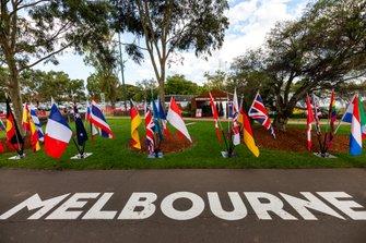 Albert Park vacío después de la decisión de cancelación del GP de Australia