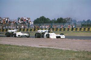 Graham Hill, Brabham BT33 Ford, precede Carlos Reutemann, Brabham BT34 Ford, GP d'Argentina del 1972