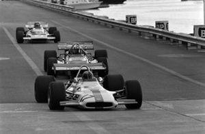 Pedro Rodriguez, BRM P153 leads Jo Siffert, March 701 Ford and Henri Pescarolo, Matra MS120