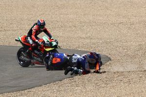 Miguel Oliveira, Red Bull KTM Tech 3 crash on the opening corner