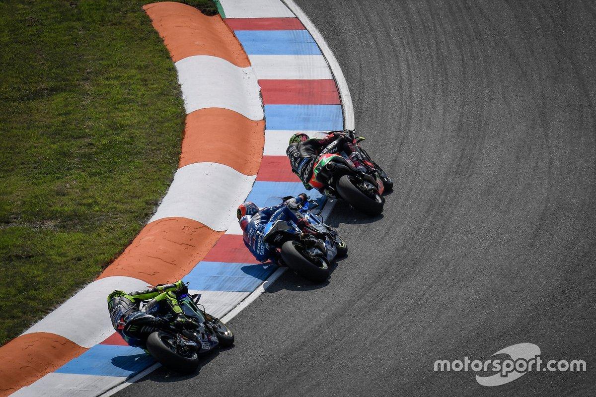 Valentino Rossi, Yamaha Factory Racing, Alex Rins, Team Suzuki MotoGP, Aleix Espargaro, Aprilia Racing Team Gresini