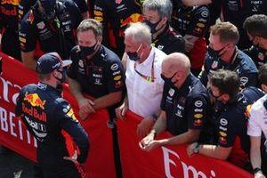 Max Verstappen, Red Bull Racing, Christian Horner, teambaas Red Bull Racing, Helmut Marko, adviseur Red Bull Racing, Adrian Newey, Chief Technical Officer, Red Bull Racing