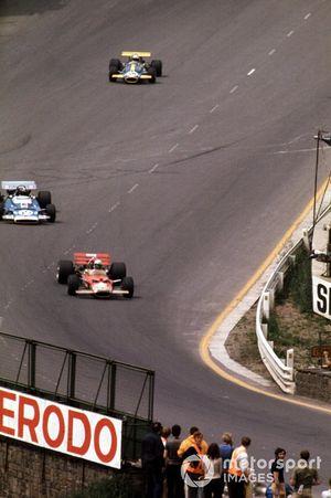 Jochen Rindt, Lotus 49C, Jean-Pierre Beltoise, Matra et Jack Brabham