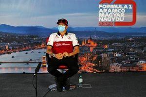 Kimi Raikkonen, Alfa Romeo in de persconferentie