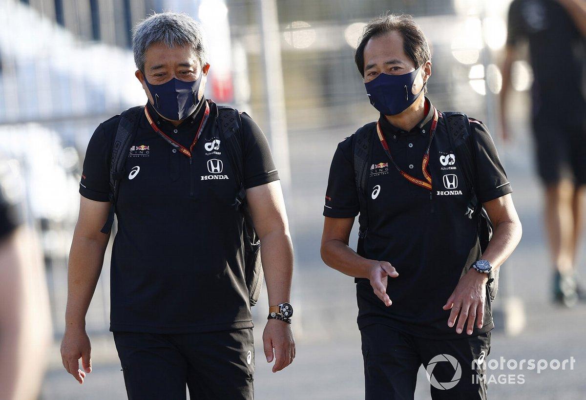 Masashi Yamamoto, General Manager, Honda Motorsport and Toyoharu Tanabe, F1 Technical Director, Honda