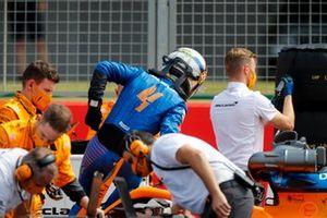 Lando Norris, McLaren MCL35 on the grid