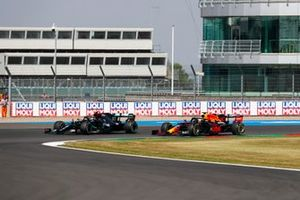 Valtteri Bottas, Mercedes F1 W11, battles with Max Verstappen, Red Bull Racing RB16