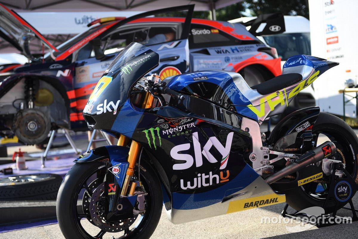 La moto de Luca Marini, Sky Racing Team VR46
