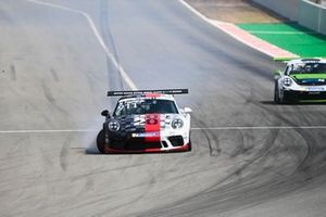 Michael Fassbender, Porsche Motorsport, comes to a halt with damage