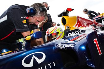 Robin Frijns, voorafgaand aan zijn F1-demo in de Red Bull RB6