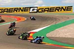 Jules Cluzel, GMT94 Yamaha, Lucas Mahias, Kawasaki Puccetti Racing, Philipp Oettl, Kawasaki Puccetti Racing