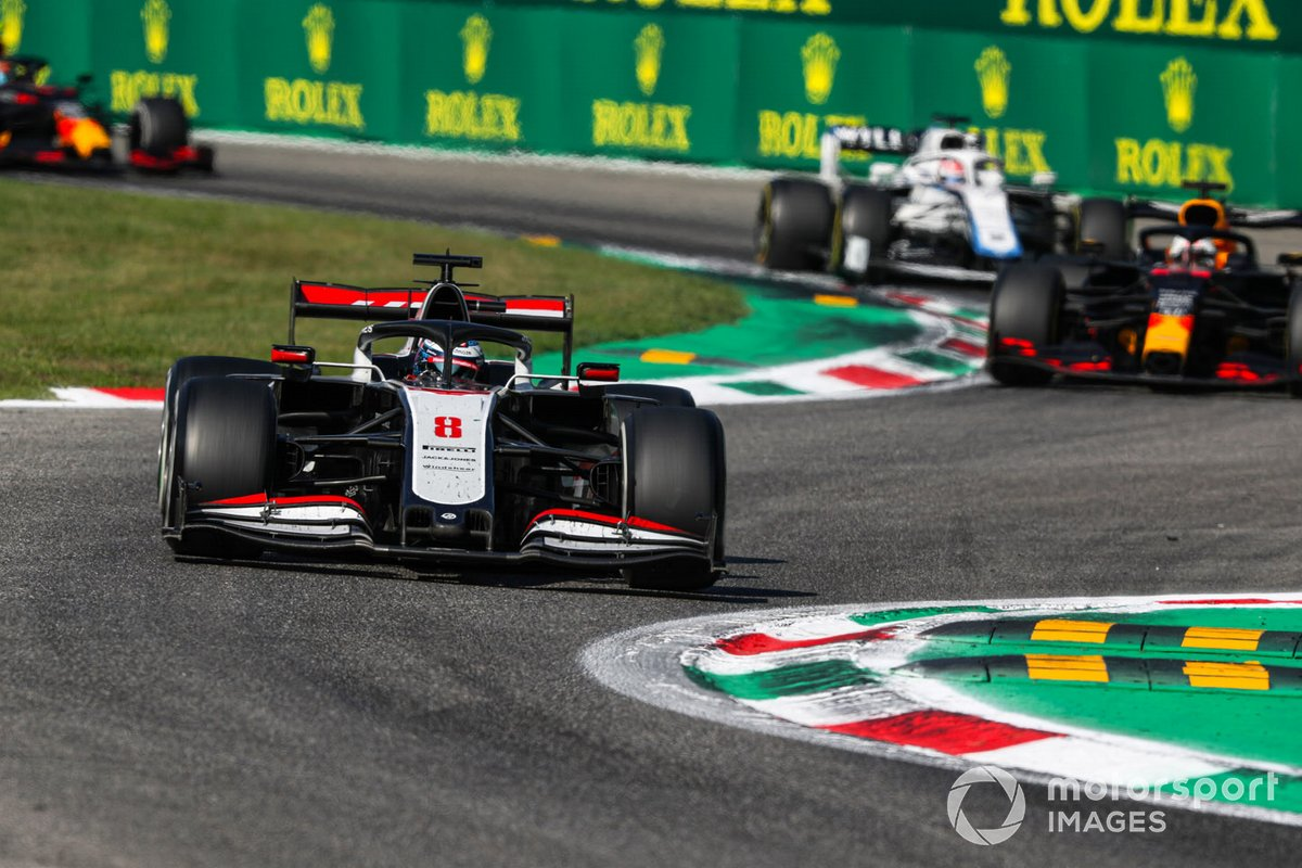 Romain Grosjean, Haas VF-20, Max Verstappen, Red Bull Racing RB16