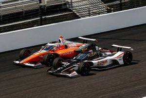 Rinus VeeKay, Ed Carpenter Racing Chevrolet, James Hinchcliffe, Andretti Autosport Honda