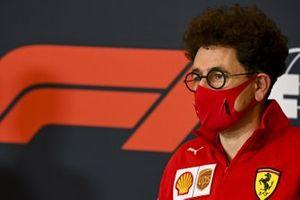 Mattia Binotto, Team Principal Ferrari in the press conference