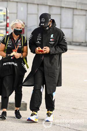 Angela Cullen, Physio for Lewis Hamilton and Lewis Hamilton, Mercedes-AMG F1
