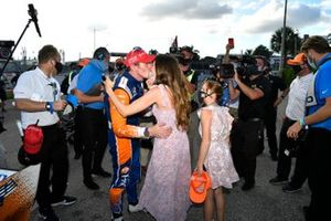 Scott Dixon, Chip Ganassi Racing Honda and wife Emma