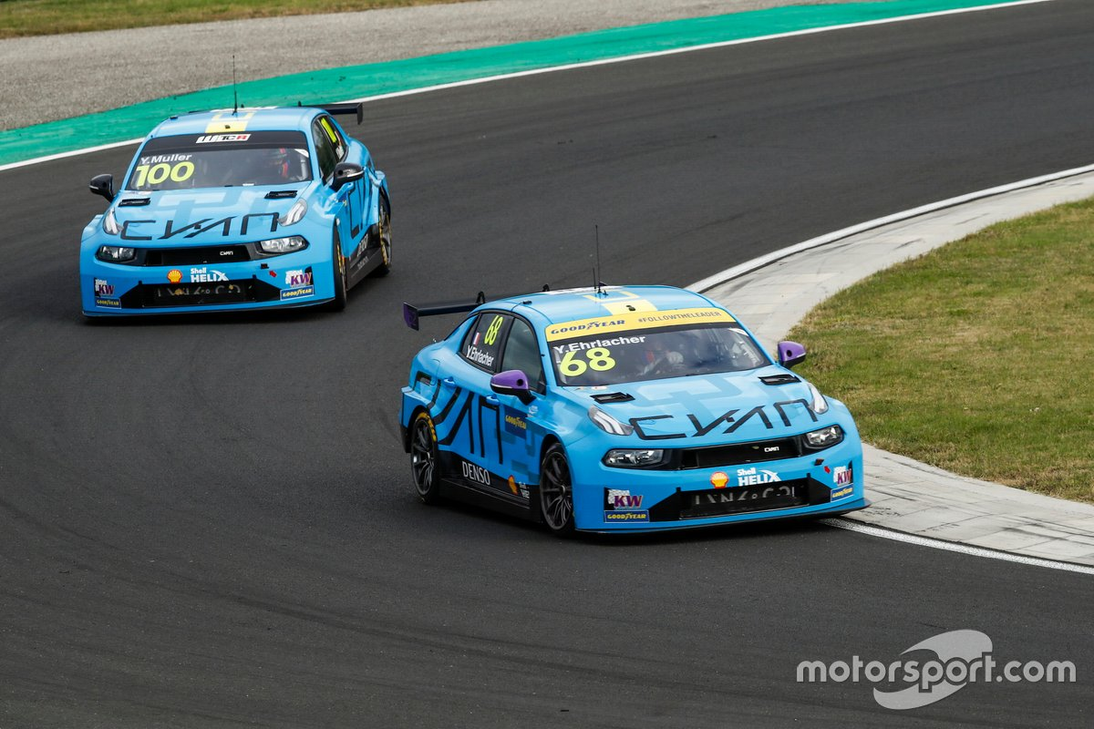 Yann Ehrlacher, Cyan Racing Lynk & Co 03 TCR, Yvan Muller, Cyan Racing Lynk & Co 03 TCR