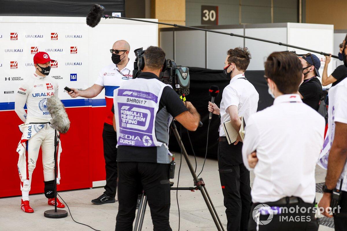 Nikita Mazepin, Haas F1 parla ai media