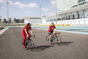 Sebastian Vettel, Ferrari, cycles the track