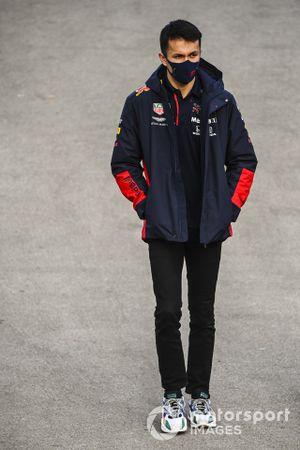 Alex Albon, Red Bull Racing in the paddock