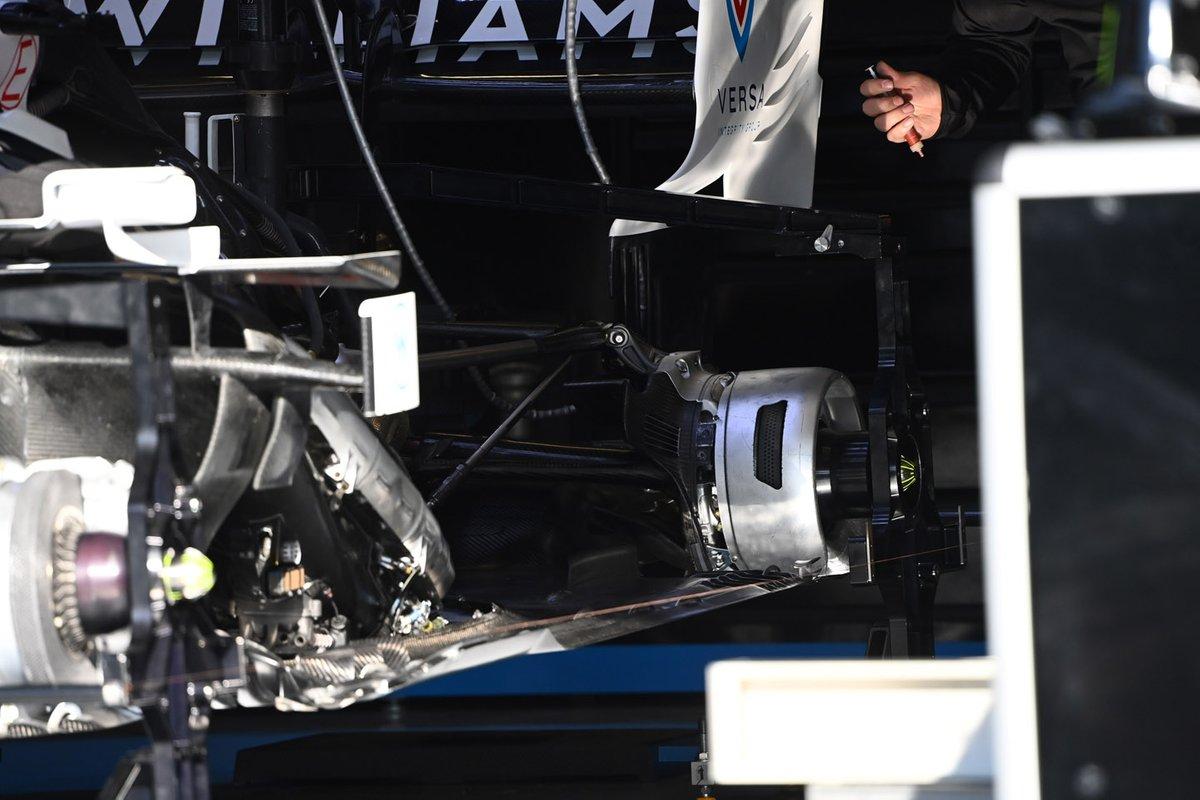Detalhe do freio traseiro da Williams FW43