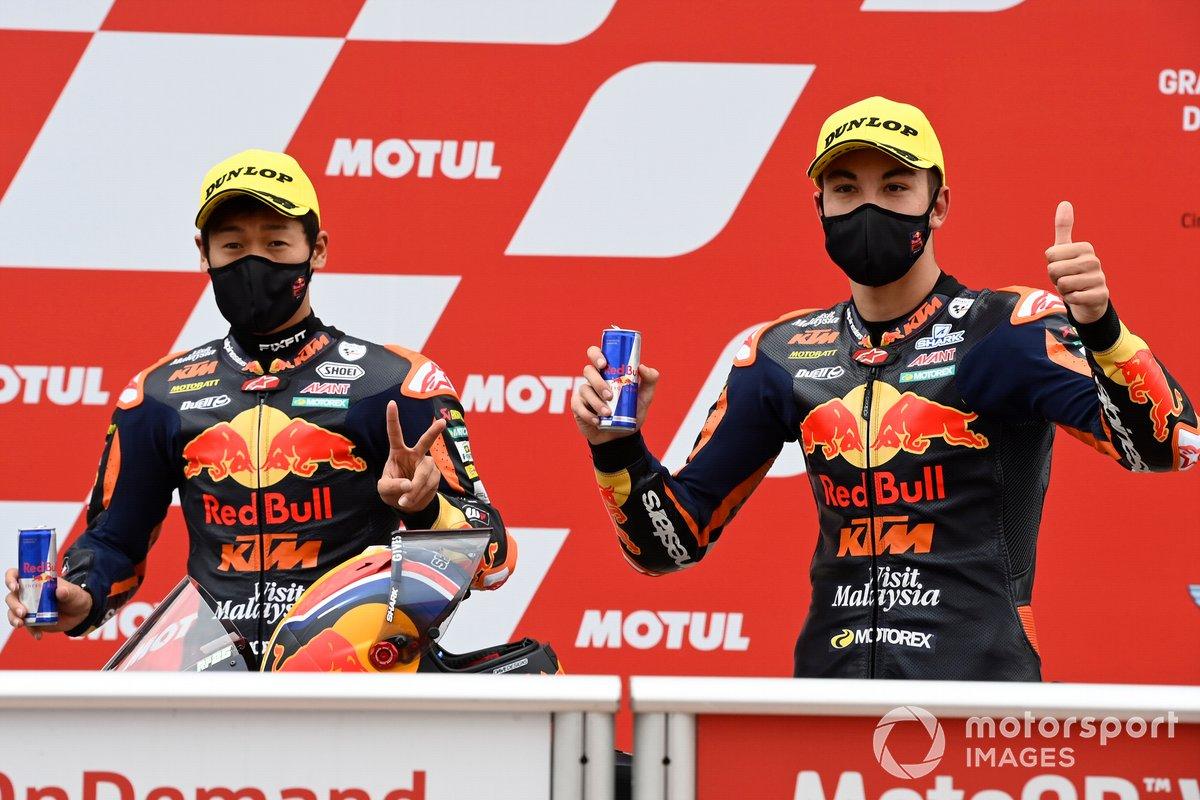 Kaito Toba, Red Bull KTM Ajo, Raul Fernandez, Red Bull KTM Ajo