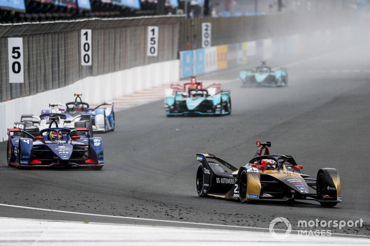 Jean-Eric Vergne, DS Techeetah, DS E-Tense FE21, Robin Frijns, Envision Virgin Racing, Audi e-tron FE07, Edoardo Mortara, Venturi Racing, Silver Arrow 02