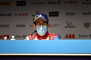 Alexander Sims, Mahindra Racing, 3rd position, in the Press Conference