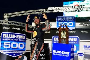 Martin Truex Jr., Joe Gibbs Racing, Toyota Camry Bass Pro celebrates his win