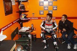 Nicky Hayden, Repsol Honda Team, mit Bruder Tommy Hayden