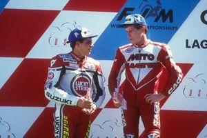 Alex Barros, Team Lucky Strike Suzuki, John Kocinski, Cagiva Team Agostini