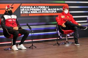 Antonio Giovinazzi, Alfa Romeo Racing and Charles Leclerc, Ferrari in the Press Conference