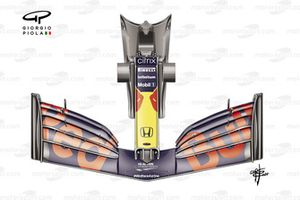 Alerón delantero del Red Bull Racing RB16B